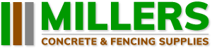 Millers Concrete & Fencing Supplies Logo